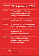 Erläuterungen des Bundesrates - Volksabstimmung vom 27. September 2020